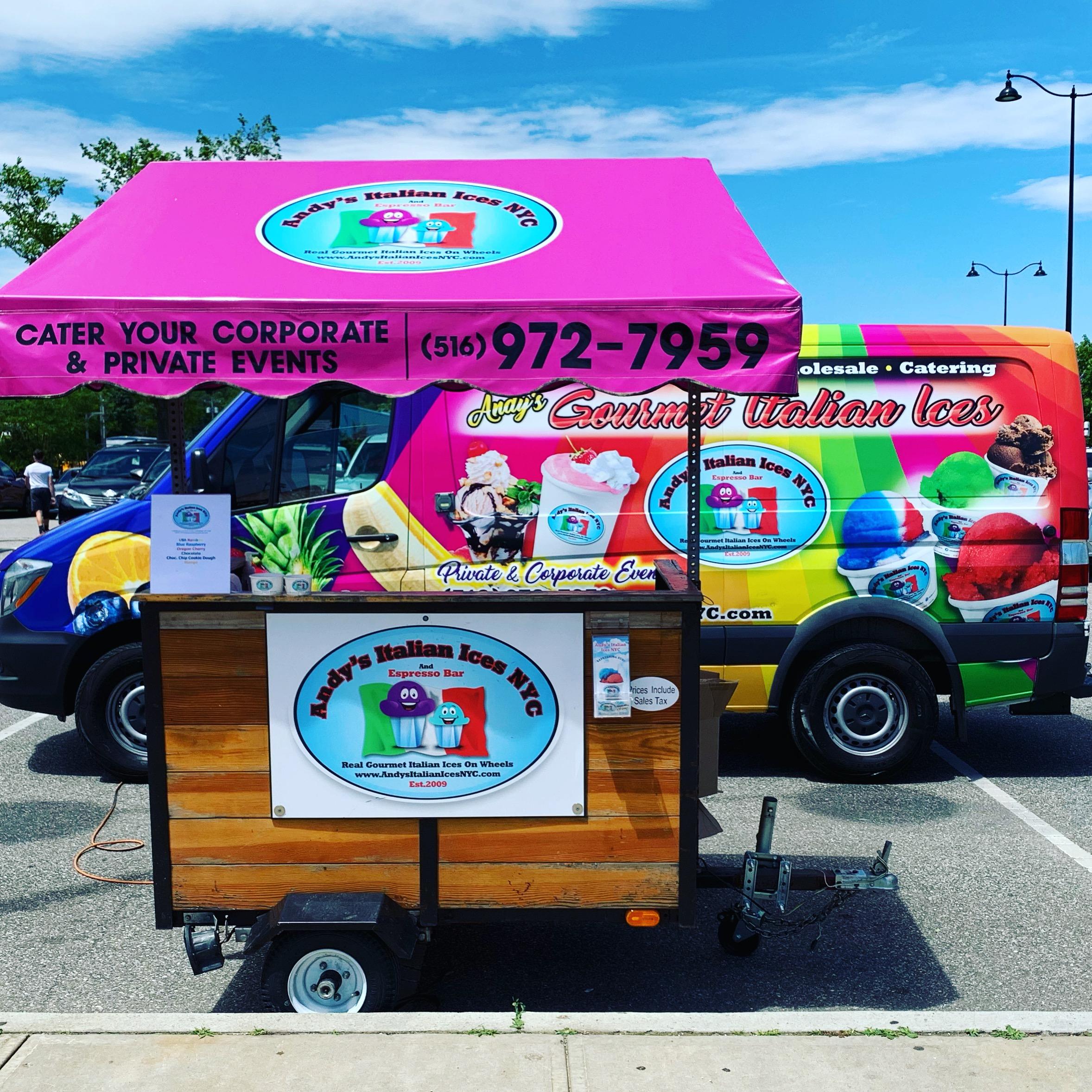 Andy's Italian Ices Ice Cream Cart