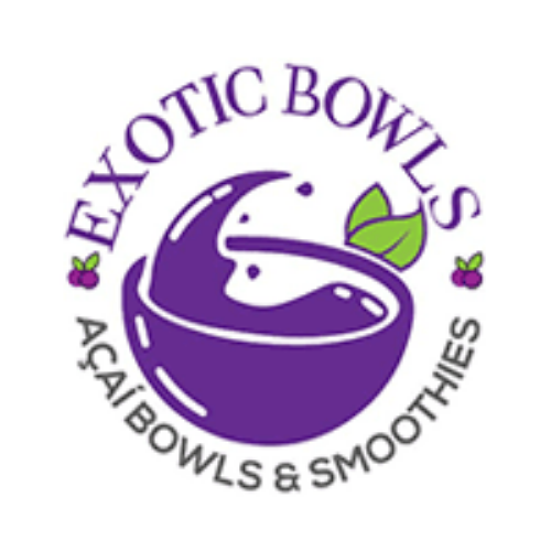 Exotic bowls food truck logo