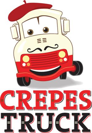 Crepes Truck Food Truck Logo
