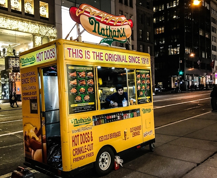 nathan's famous food cart nyc